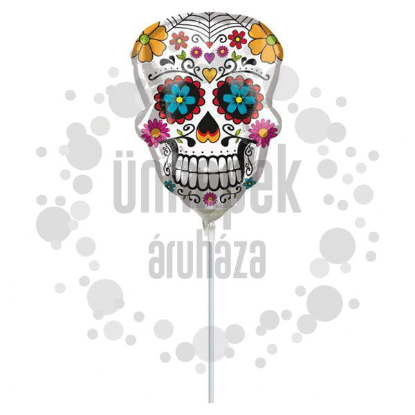 Sugar Skull Mini Shape Fólia Lufi Halloween-re