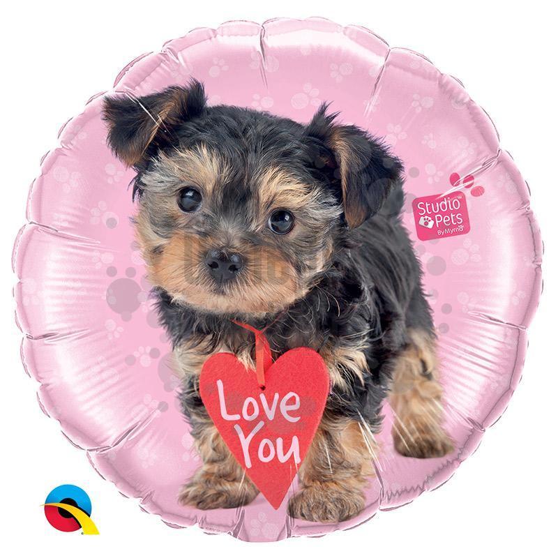 18 inch-es Studio Pets - Szerelmes Love You Terrier Fólia Lufi
