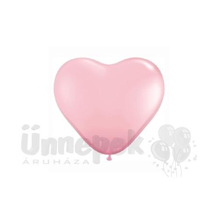 15 inch-es Pink (Standard) Szív Latex Lufi (10 db/csomag)
