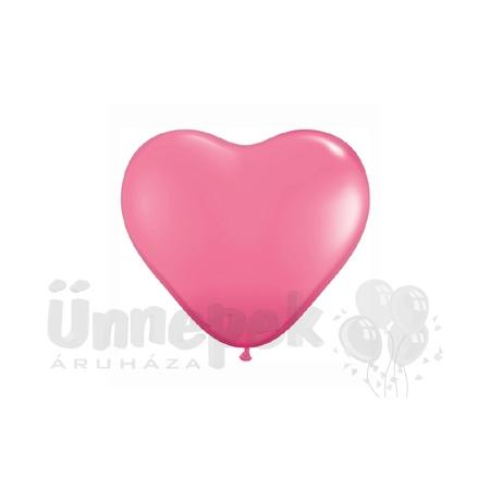 15 inch-es Rose (Fashion) Szív Latex Lufi (10 db/csomag)