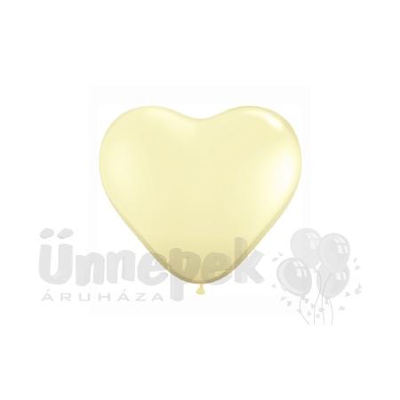 6 inch-es Ivory Silk (Fashion) Szív Latex Lufi (100 db/csomag)