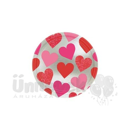 Szerelmes Szívek Parti Tányér 22,8 cm