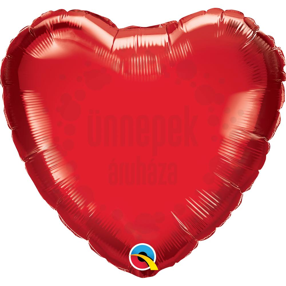 36 inch-es Rubinvörös - Ruby Red Szív Héliumos Fólia Lufi