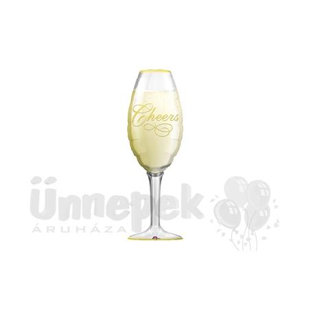 Pezsgőspohár - Champagne Glass - Super Shape Héliumos Fólia Lufi