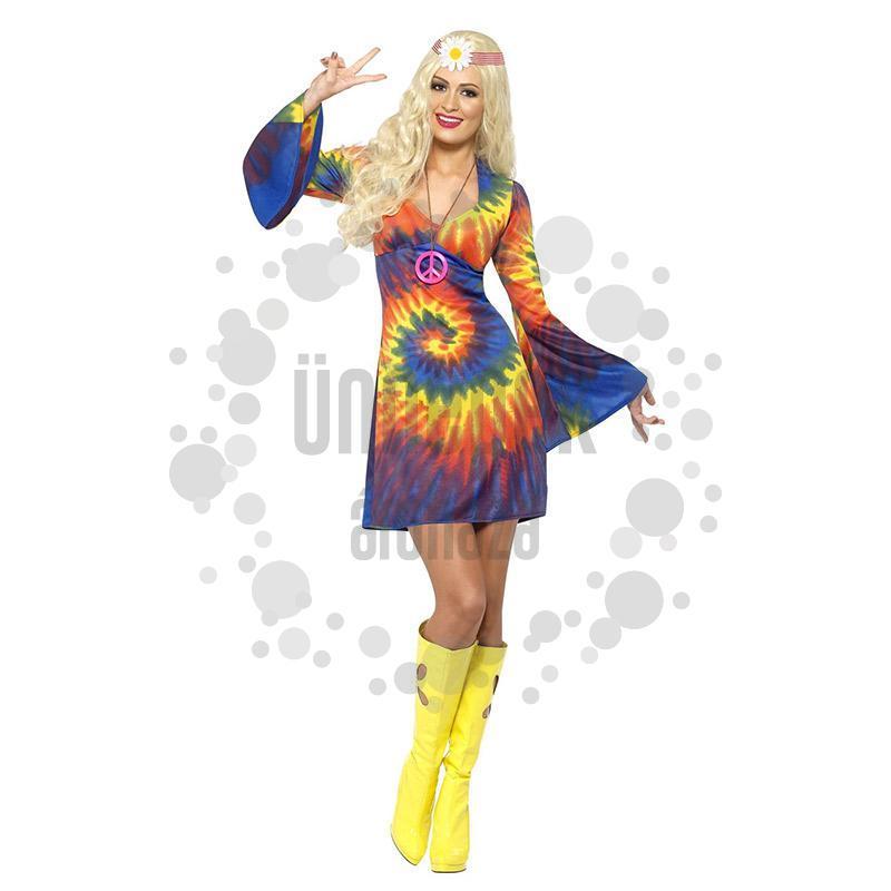 Színes Hippi Női Jelmez, S-es