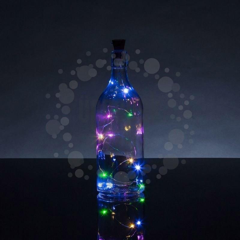 Színes LED-es Borosüveg Fényfüzér