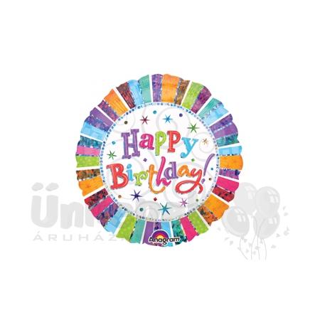 18 inch-es Radiant Birthday Szülinapi Héliumos Fólia Lufi