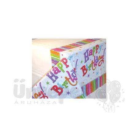 Radiant Birthday Szülinapi Parti Asztalterítő - 259 cm x 137 cm