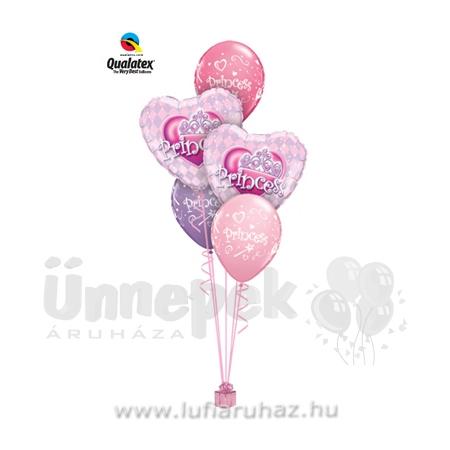 Princess Tiara Szülinapi Ajándék és Léggömb-dekoráció