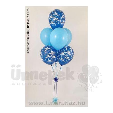Boldog Születésnapot Blue & Pale Blue Szülinapi Lufidekoráció