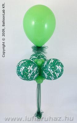 Boldog Születésnapot Lime Green & Green Szülinapi Lufidekoráció