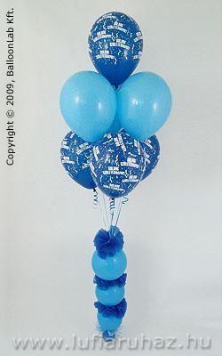 Boldog Születésnapot Blue & Pale Blue on Donuts Szülinapi Ajándék és Dekoráció