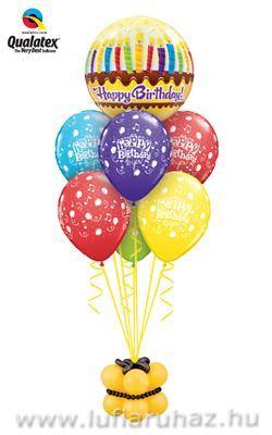 Birthday Candles & Frosting Szülinapi Ajándék és Léggömb-dekoráció