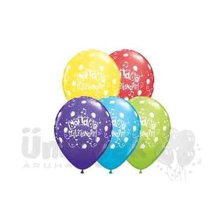11 inch-es Boldog Születésnapot Assorted Lufi (25 db/csomag)
