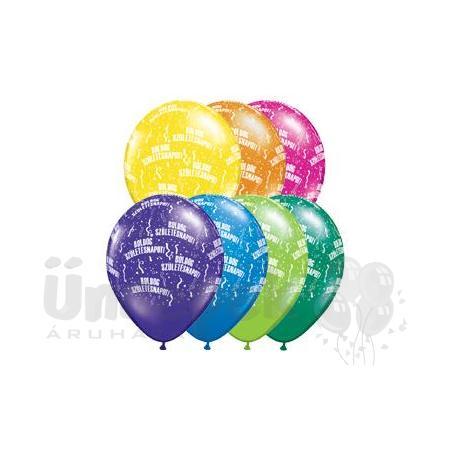 11 inch-es Boldog Születésnapot Fantasy Lufi (25 db/csomag)