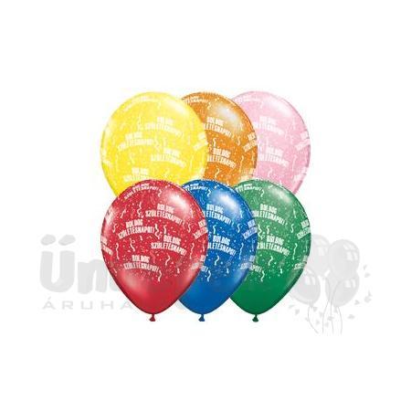 11 inch-es Boldog Születésnapot Standard Lufi (25 db/csomag)