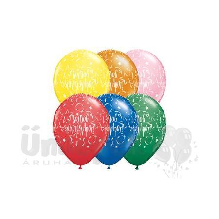 11 inch-es Boldog Születésnapot Stars Standard Lufi (25 db/csomag)