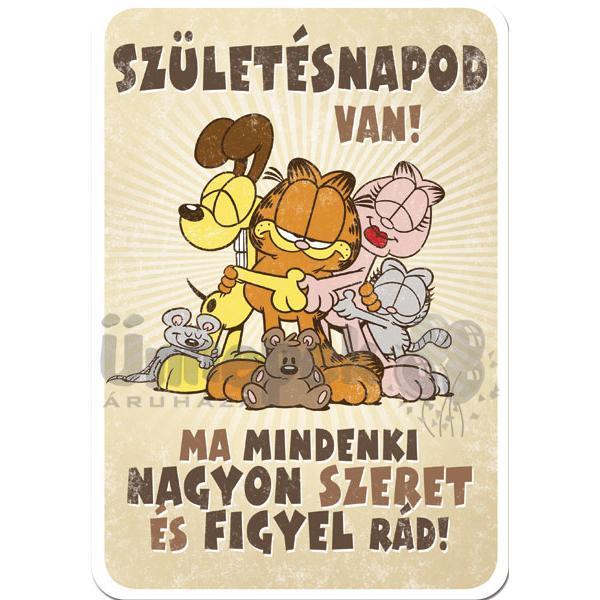 garfield szülinapi képeslap Garfield Mindenki Szeret Szülinapi Képeslap garfield szülinapi képeslap