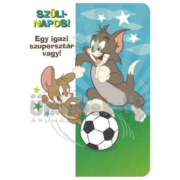 focis szülinapi köszöntő Tom és Jerry Szülinapos Szupersztár Képeslap focis szülinapi köszöntő