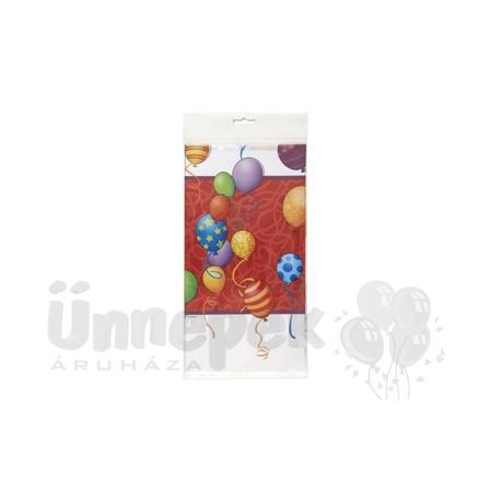 Birthday Balloons - Léggömbös Szülinapi Parti Asztalterítő - 137 cm x 213 cm