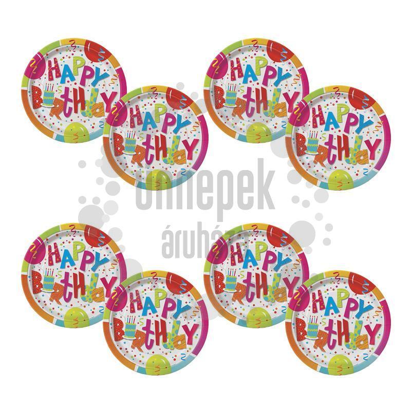 Birthday Jamboree Szülinapi Parti Tányér - 18 cm, 8 db-os