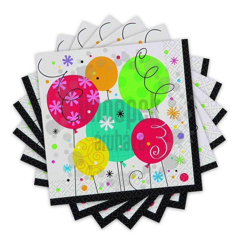 Breezy Birthday Szülinapi Parti Szalvéta - 33 cm x 33 cm, 16 db-os