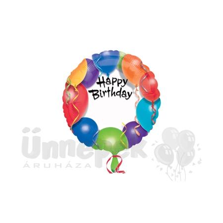 18 inch-es Happy Birthday - Szülinapi Feliratozható Héliumos Fólia Lufi