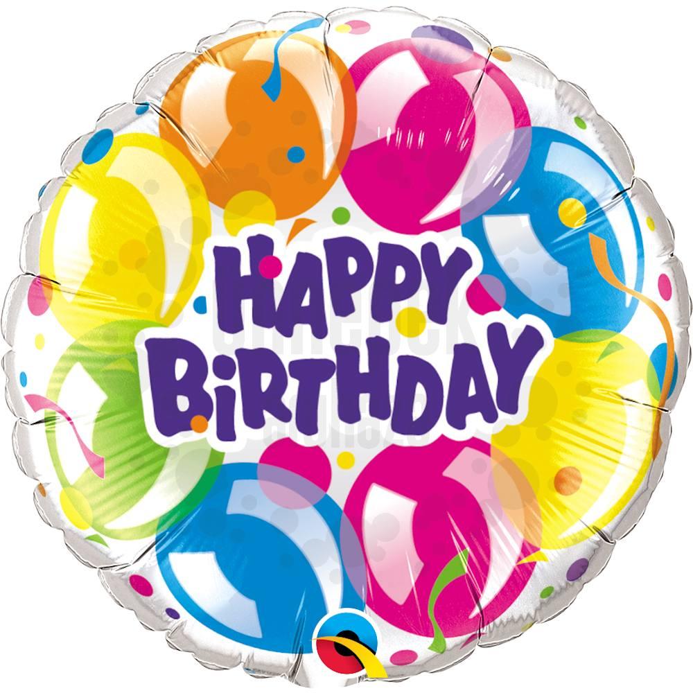 18 inch-es Szikrázó Lufik - Birthday Sparkling Balloons Szülinapi Héliumos Fólia Lufi