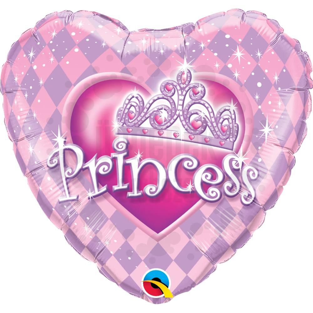 9 inch-es Hercegnő Tiara - Princess Tiara Szülinapi Fólia Lufi Pálcán