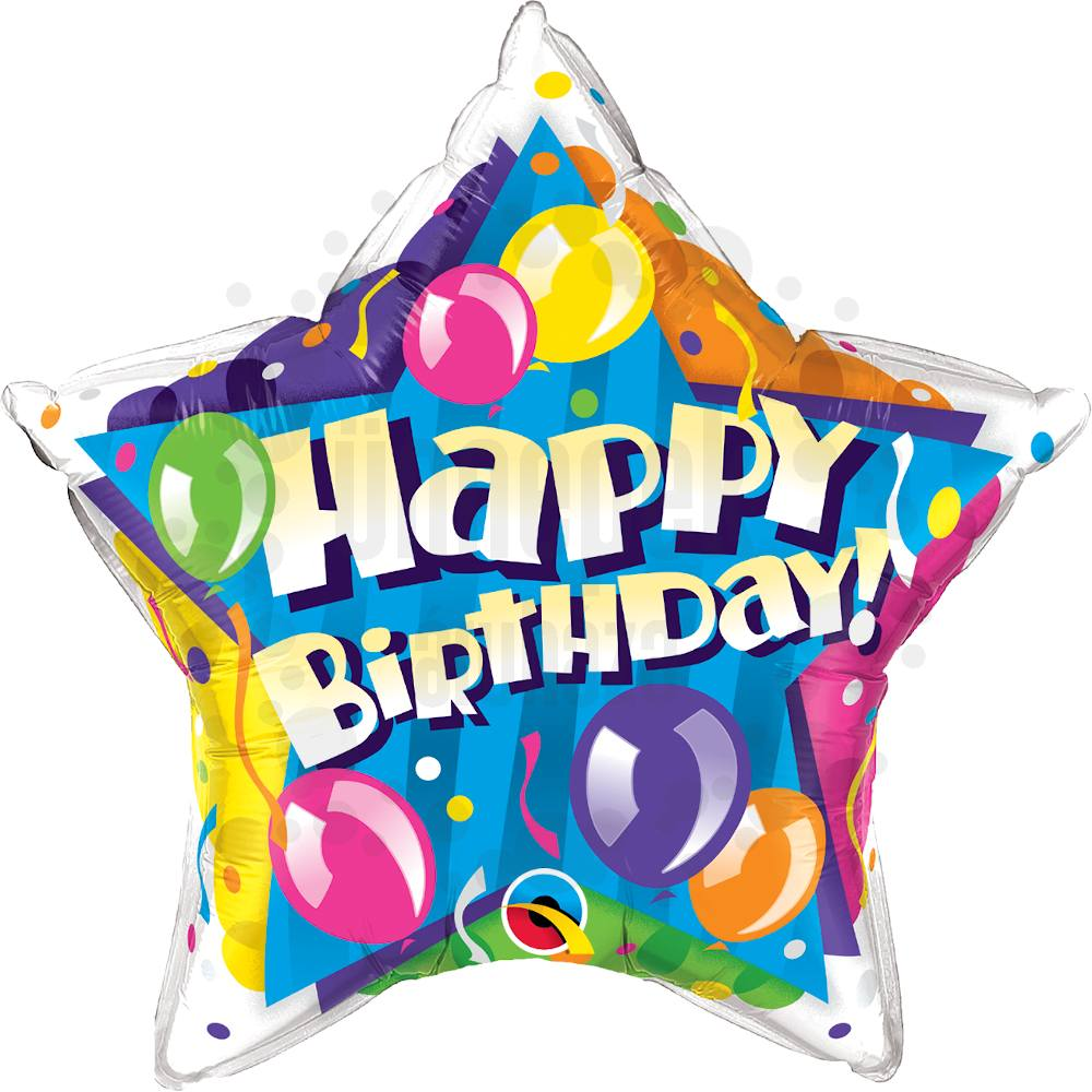 20 inch-es Birthday! Sparkling Balloons Star Szülinapi Héliumos Fólia Lufi