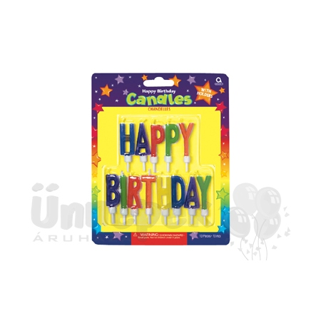 Happy Birthday Felirat Formájú Tortagyertya - 13 db-os