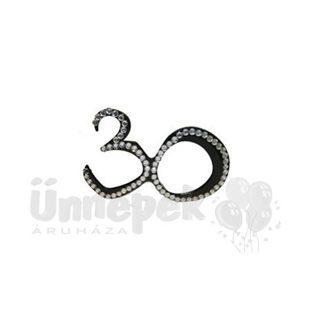 Fekete 30-as Szülinapi Parti Szemüveg