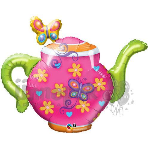 44 inch-es Teapot & Butterflies Fólia Lufi