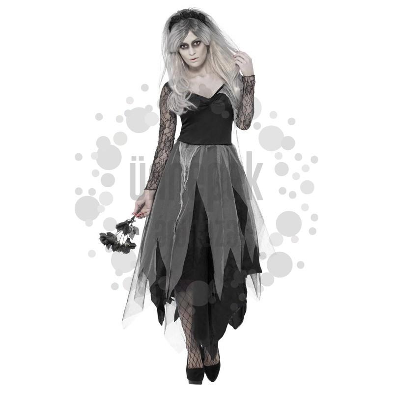 Temető Halott Menyasszony Jelmez Halloween-re - S-es