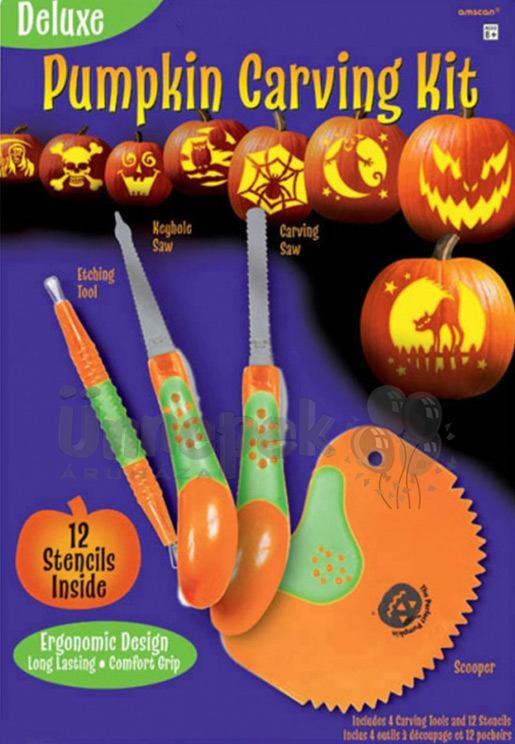 Tökfaragó Szett Halloweenre - 12 db Sablon Mintával