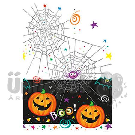 Pumpkin Pals - Tökfejes Halloween Parti Asztalterítő - 137 cm x 213 cm