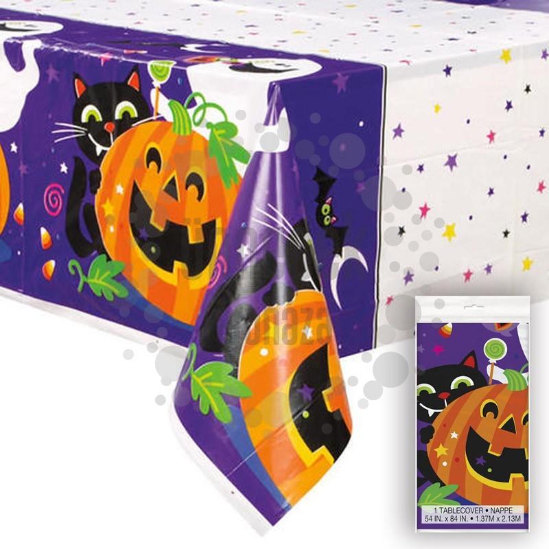 Tökös Happy Halloween Asztalterítő, 137 cm x 213 cm