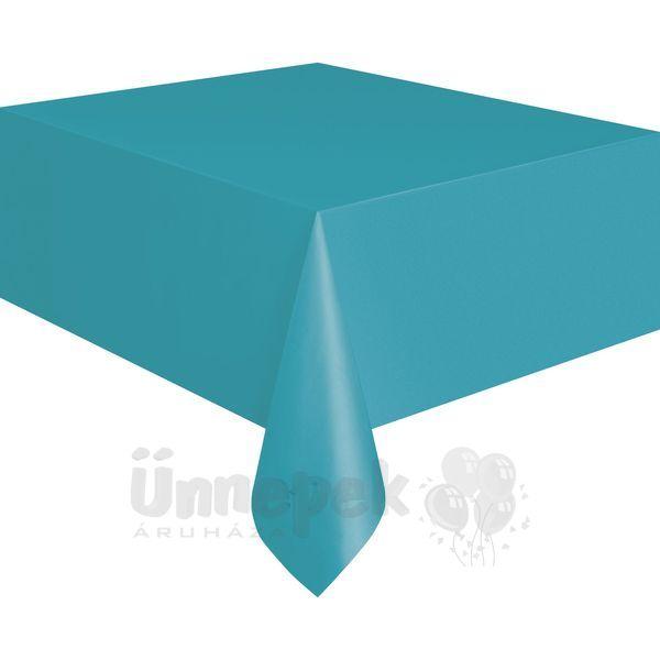 Caribbean Teal Műanyag Parti Asztalterítő - 137 cm x 274 cm