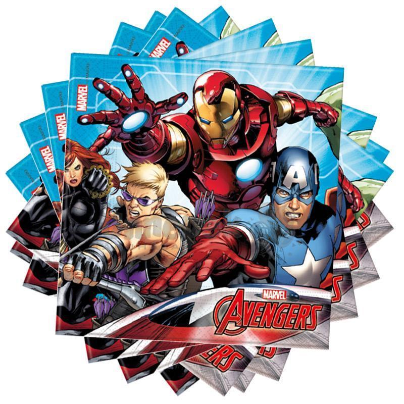 Bosszúállók - Mighty Avengers Party Szalvéta - 33 cm x 33 cm, 20 db-os