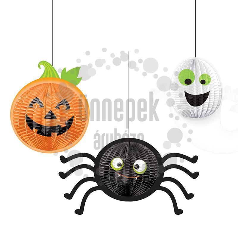 Halloween Figurák Lampion Függő Dekoráció, 3 db-os