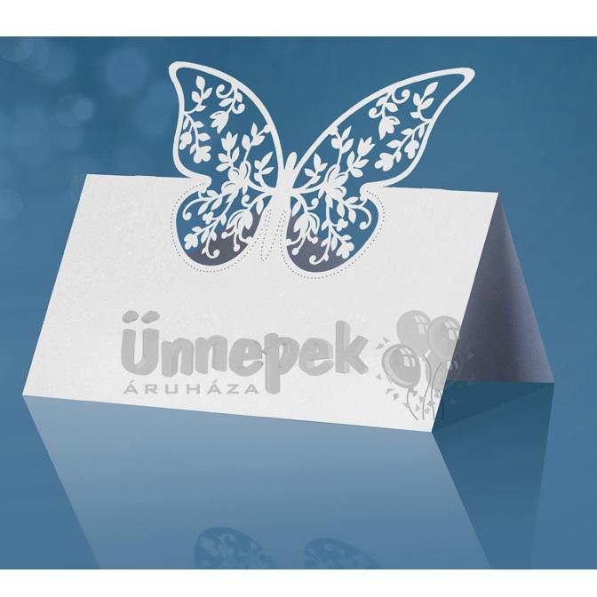 Pillangós Ültetőkártya  - 10 db-os