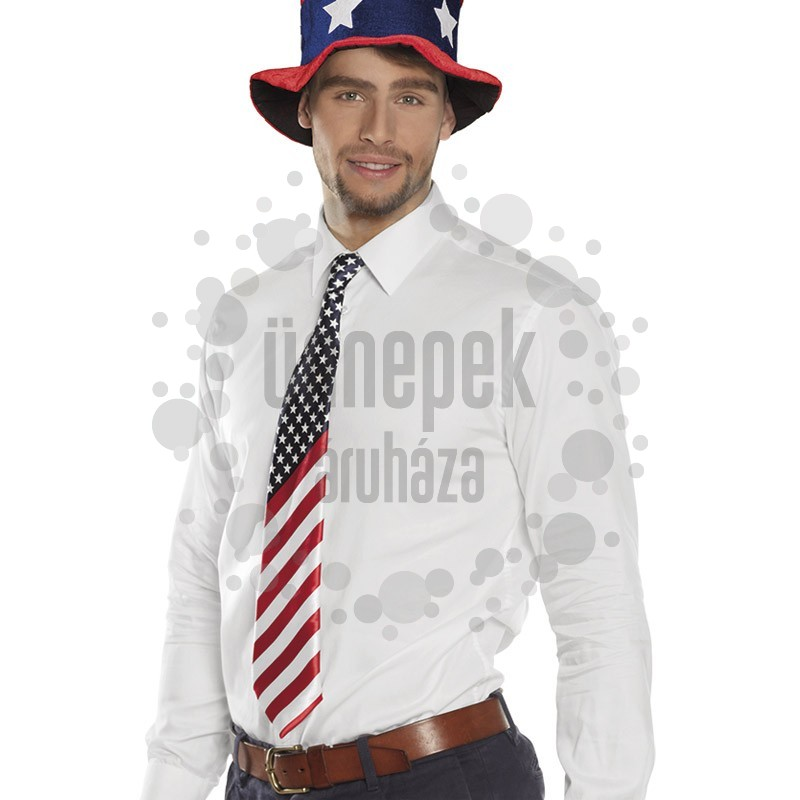 USA - Amerikai Zászló Mintás Nyakkendő