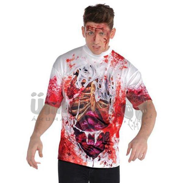 Véres Hatású Jelmezpóló Halloween-re - XL