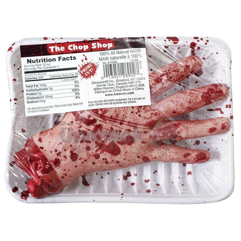 Véres Levágott Kéz Halloween Kiegészítő