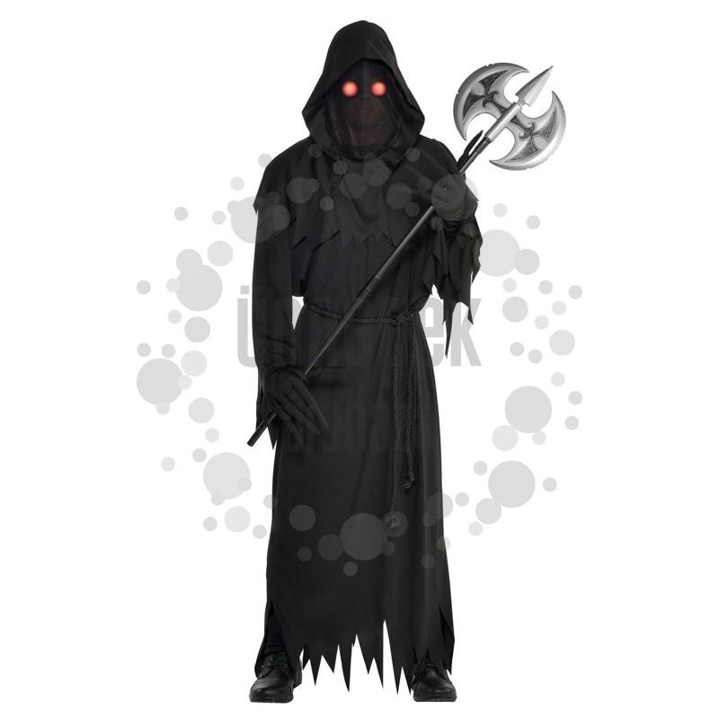Világító Szemű Kaszás Halloween Jelmez, M/L-es