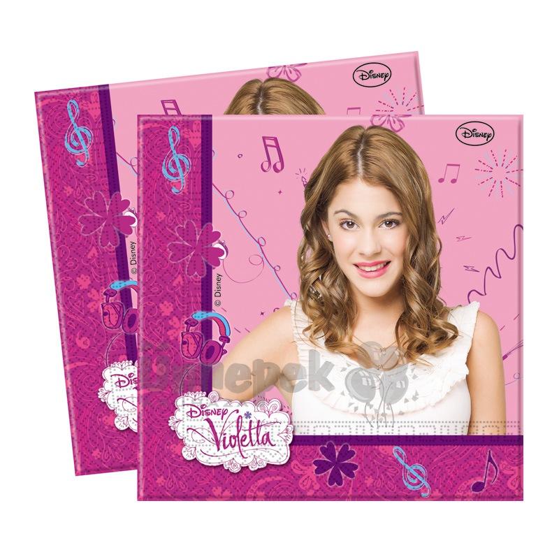 Violetta Parti Szalvéta - 33 cm x 33 cm, 20 db-os