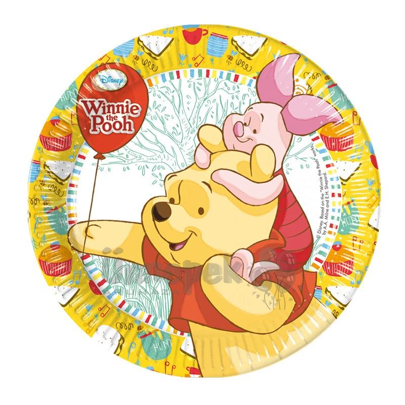 Winnie Sweet Tweets - Micimackó Parti Tányér - 20 cm, 8 db-os