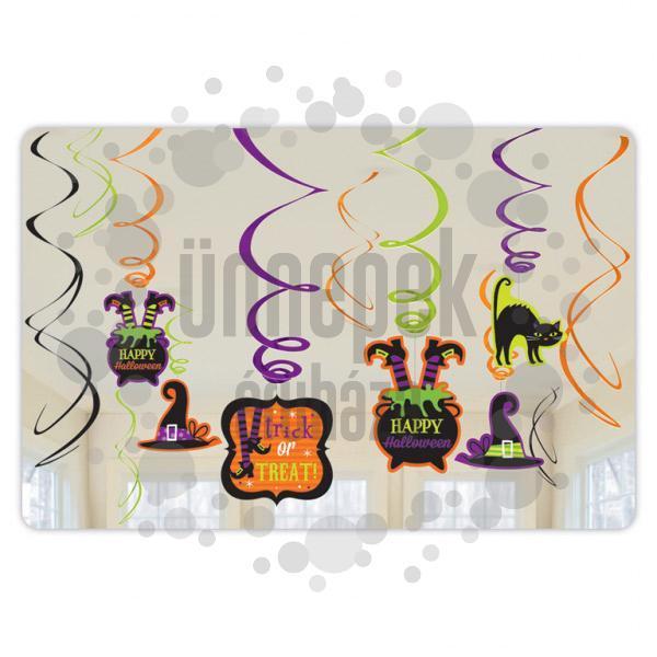 Witches' Crew Spirális Függő Dekoráció - 12 db-os
