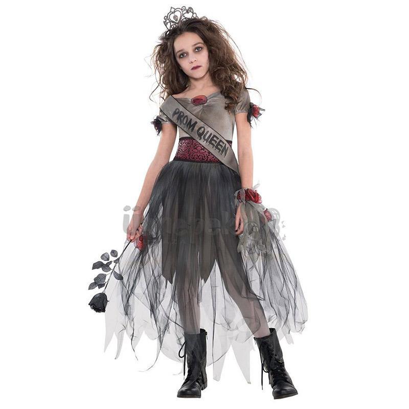 Zombi Bál Királynő Jelmez Halloween-re, 12-14 Éveseknek