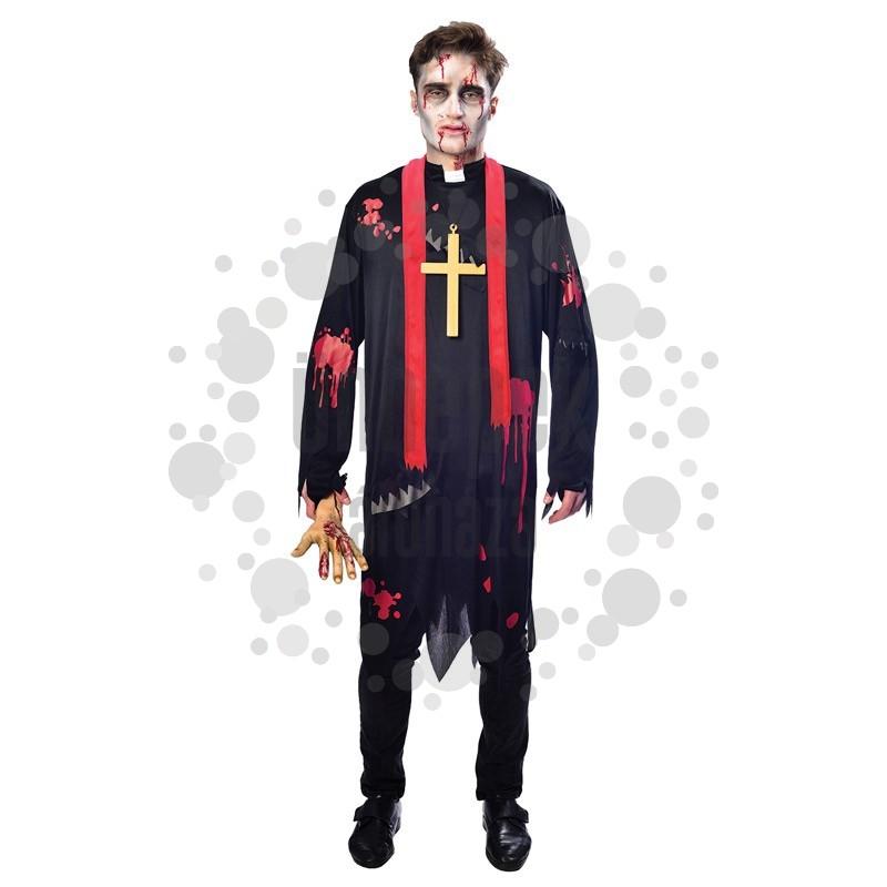 Zombi Plébános Jelmez Halloween-re, L-es